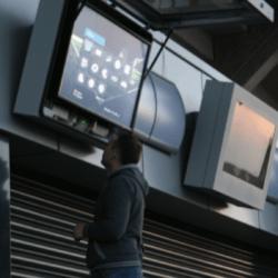 obudowa monitora LCD na stadionie we Wrocławiu